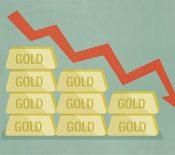 قیمت طلا کاهش یافت.